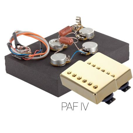 Pack électronique copie LesPaul 6 positions - Micros PAF Doré