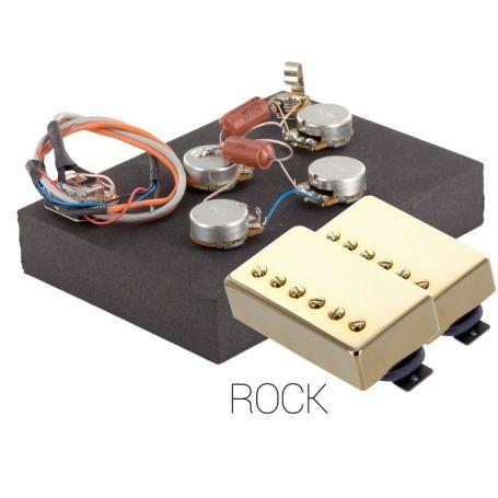 Pack électronique copie LesPaul 6 positions - Micros Rock doré