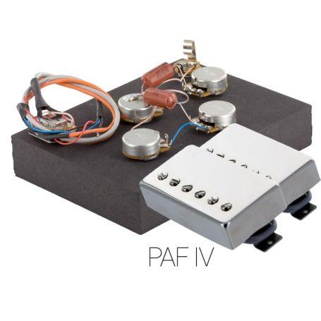 Pack électronique copie LesPaul 6 positions - Micros PAF nickel