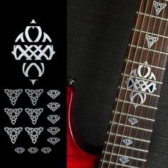 Sticker triangle celtique métal touche guitare