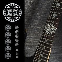 Sticker croix celtique métal touche guitare