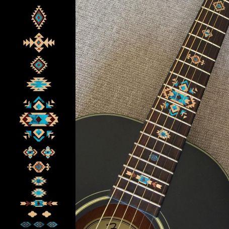 Sticker décor ethnique touche guitare - Naturel