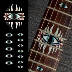 Sticker guitare touche oeil mystique