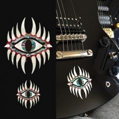 Sticker guitare corps oeil mystique - grand et petit