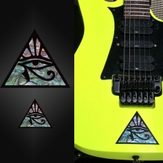 Sticker guitare corps oeil pyramide - grand et petit