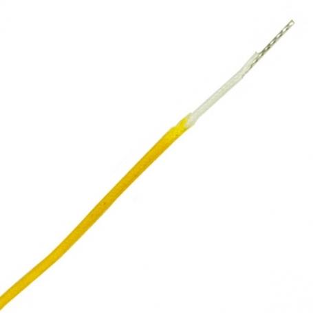 Fil câblage Gavitt vintage tissu 22AWG jaune