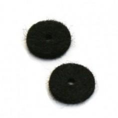 2 feutres pour attache courroie noir