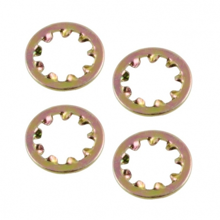 lot 4 rondelles dentelées pour potentiomètres métrique M8