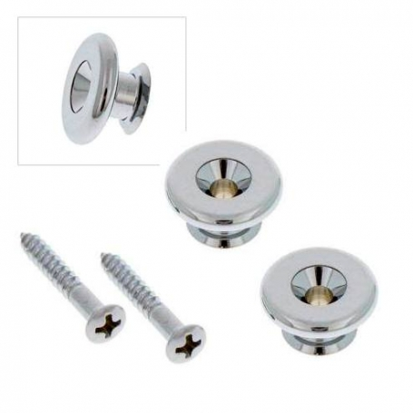 2 attaches courroie Gotoh large 17mm nickel