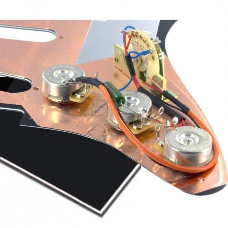 Plaque électronique guitare optimisée noire Stratocaster® US gaucher