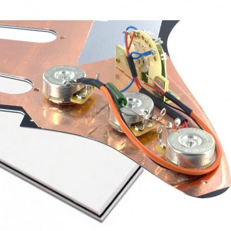 Plaque électronique guitare optimisée blanche Stratocaster® US gaucher