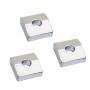 3 carrés pour sillet locknut Schaller 11.5x11.5 chrome