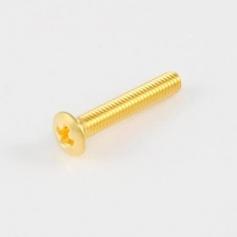 Lot 6 vis longues pour bouton de mécanique dorées