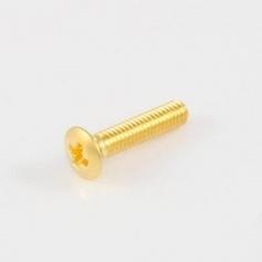 Lot 6 vis courtes pour bouton de mécanique dorées