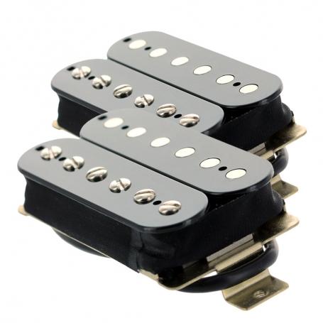 Set 2 micros humbucker Gn'B type PAF noir