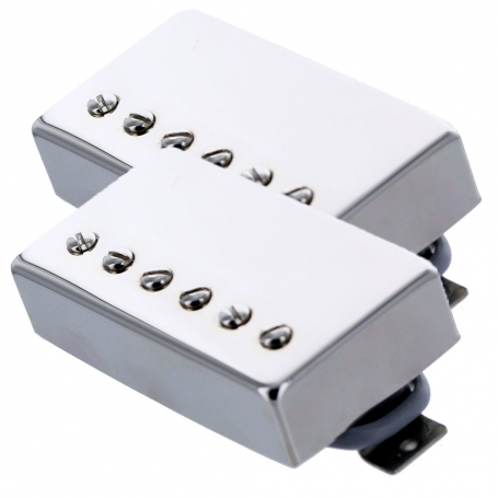 Set 2 micros humbucker Gn'B type PAF nickel