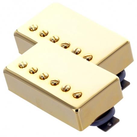 Set 2 micros humbucker Gn'B type PAF doré