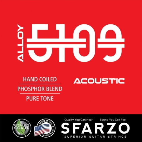 Cordes guitare acoustique Sfarzo Alloy 5109 10-48