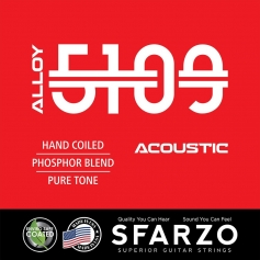 Cordes guitare acoustique Sfarzo Alloy 5109 10-48