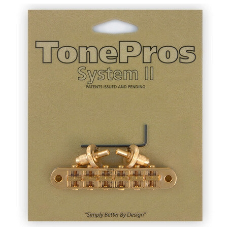 Chevalet Tonepros T3BP tune-o-matic Les Paul US Gold