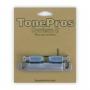 Cordier tailpiece Tonepros copie LesPaul chrome