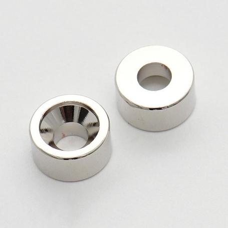 4 inserts étroit pour fixation manche nickel