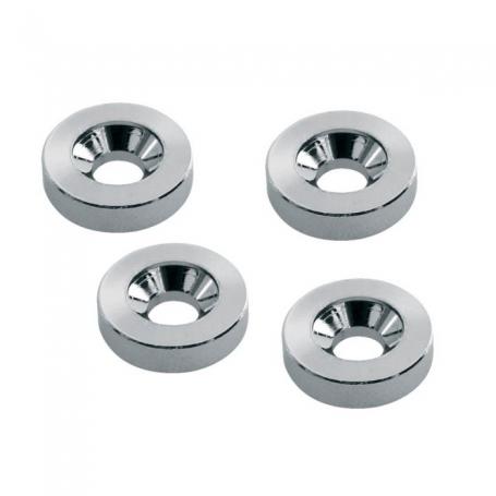 4 inserts pour fixation manche chrome 15mm