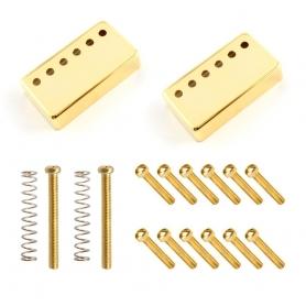 Pack capots et vis plots dorés pour micros humbucker GnB