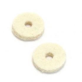 2 feutres pour attache courroie blanc