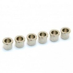 6 Ferrules cordes traversantes 8mm nickel