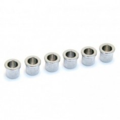 6 Ferrules cordes traversantes 8mm chrome