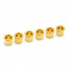 6 Ferrules cordes traversantes 8mm doré