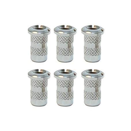 6 ferrules de table 4mm chrome