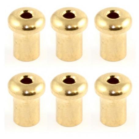 6 ferrules de table 5mm doré