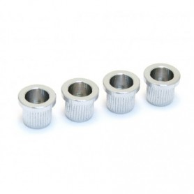 4 ferrules basse cordes traversantes 10mm chrome