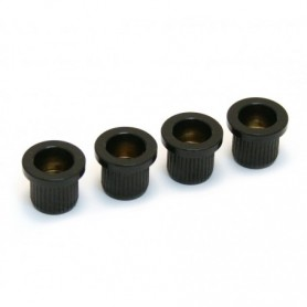 4 ferrules basse cordes traversantes 10mm noir