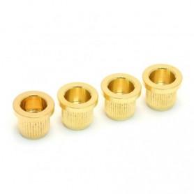 4 ferrules basse cordes traversantes 10mm doré