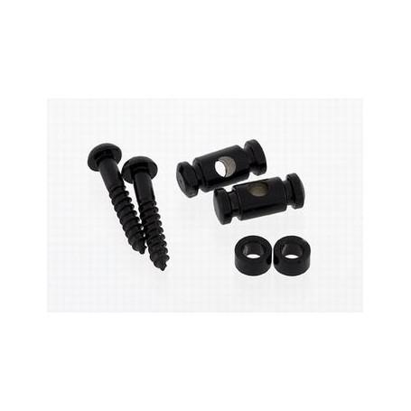 2 guides cordes cylindrique noir