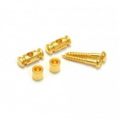 2 guides cordes cylindrique dore