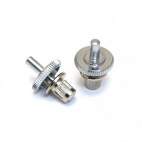 Lot 2 petits inserts chevalet type LesPaul US chrome
