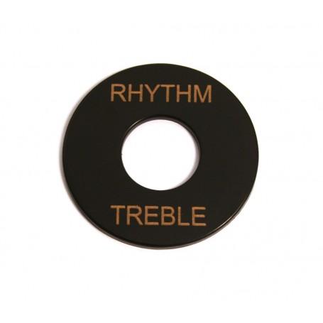 Plaque rhythm & treble LesPaul noir