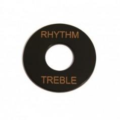 Plaque rhythm & treble LesPaul® noir