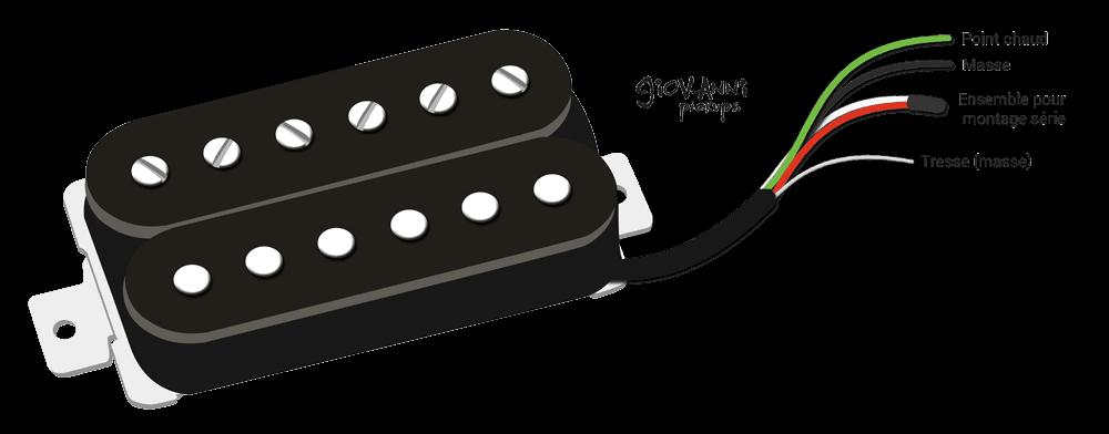couleur fil sortie micro guitare humbucker Giovanni