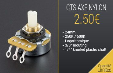 potentiomètre guitare CTS nylon