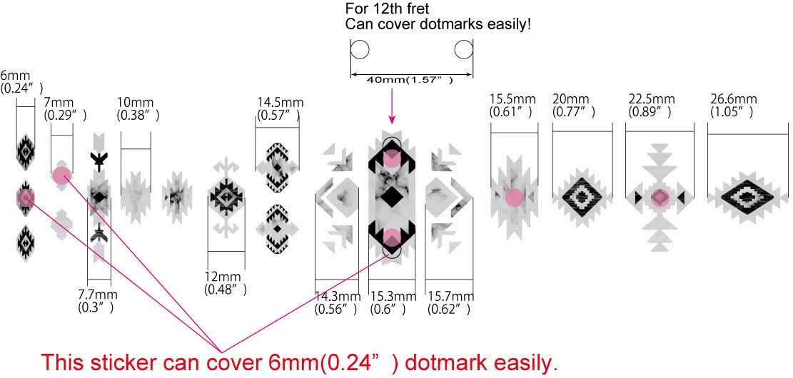 dimensions stickers décor ethnique touche naturel