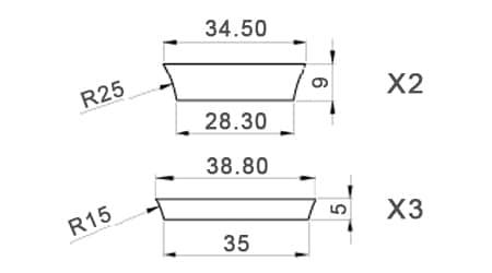 Dimensions petits dots LesPaul Standard