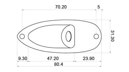 dimensions plaque jack cuvette stratocaster dos